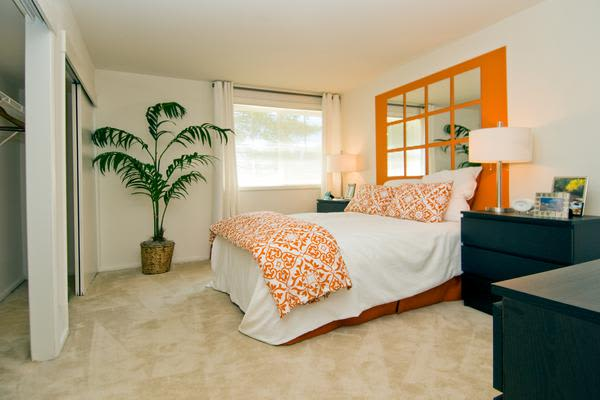 Luxury bedroom at Brookdale at Mark Center Apartment Homes in Alexandria, VA