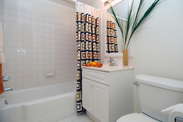 Spacious bathroom at Brookdale at Mark Center Apartment Homes in Alexandria, VA