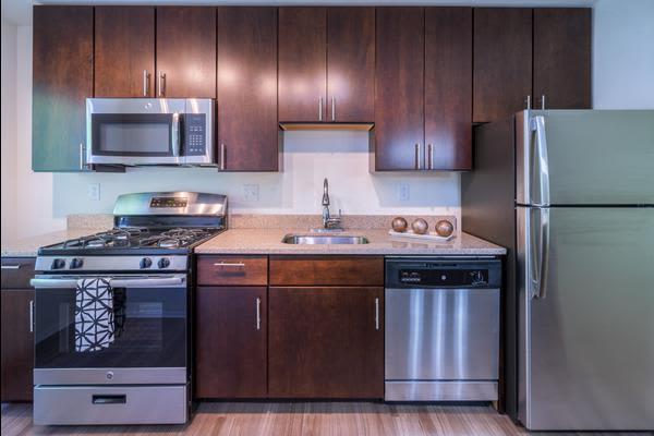 Modern kitchen at Stoneridge at Mark Center Apartment Homes in Alexandria, VA