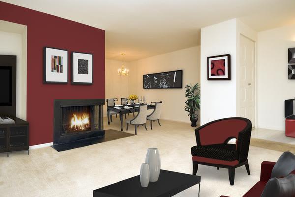 Luxury living room at Stoneridge at Mark Center Apartment Homes in Alexandria, VA