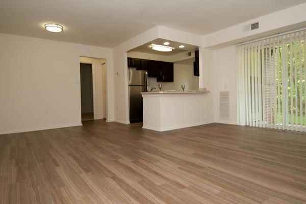 Hardwood floors at apartments in Alexandria, VA