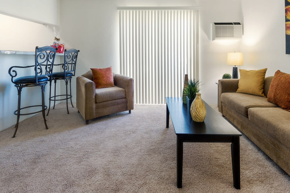 Naturally lit model apartment at The Excelsior in Studio City, California