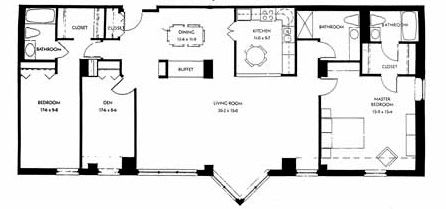 Two bedroom, 1765 SQ FT