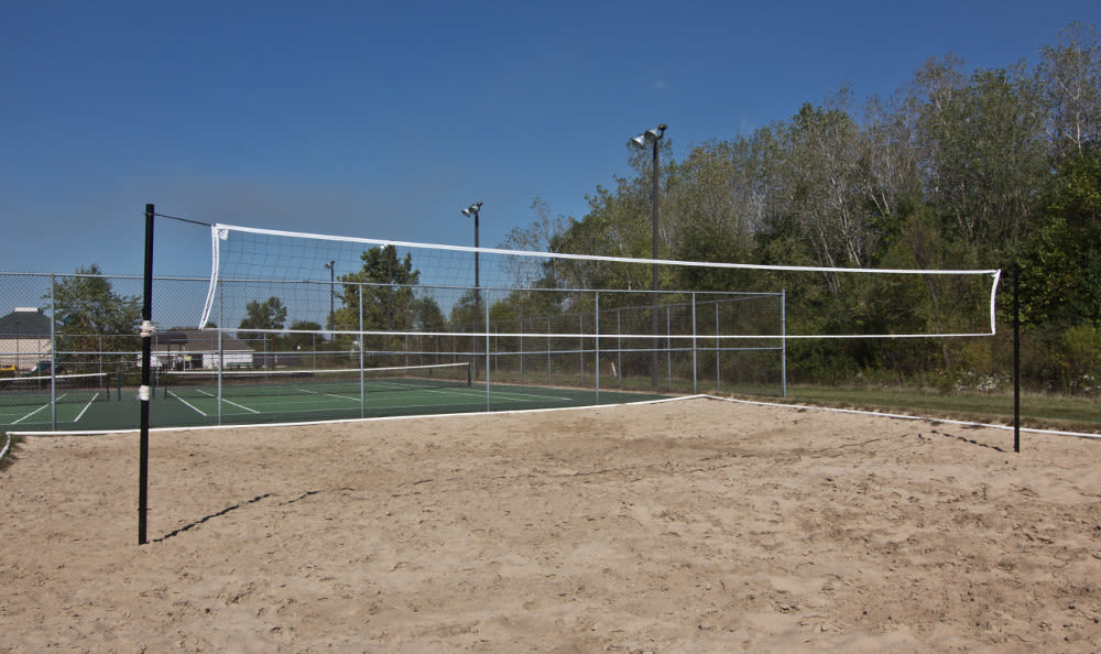 Beach volleyball court at The Lakes at 8201 in Merrillville, IN