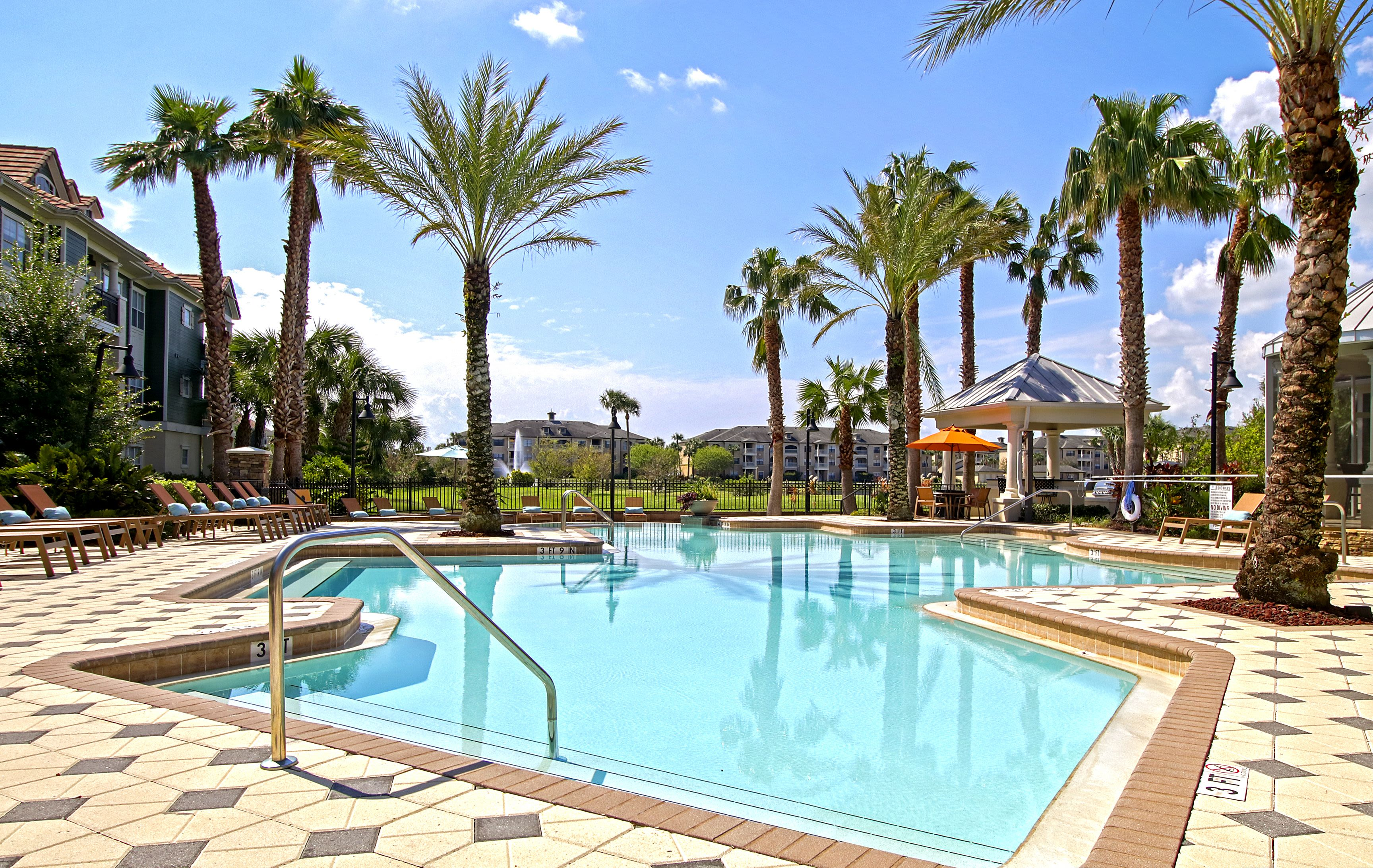 Luxury Swimming Pool at Highlands Viera West in Melbourne, Florida