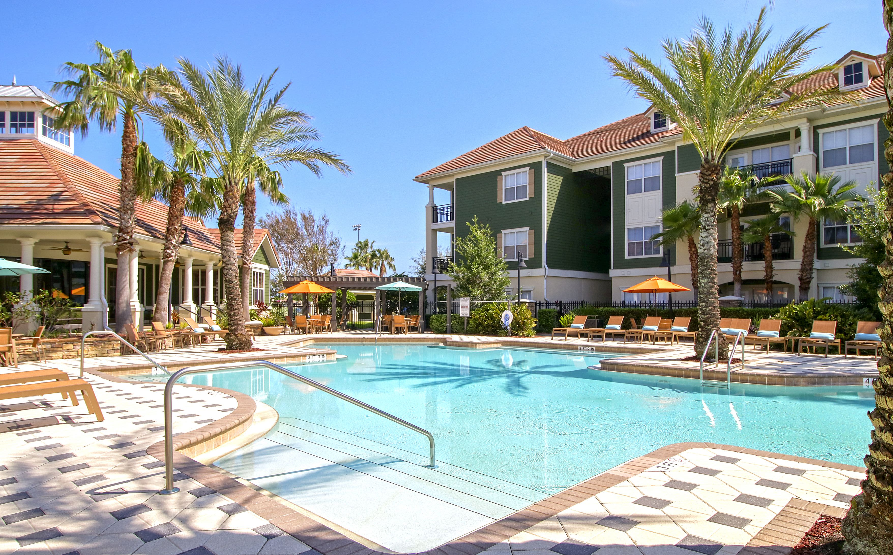 Sparkling Swimming Pool at Highlands Viera West Luxury Apartments in Melbourne, Florida