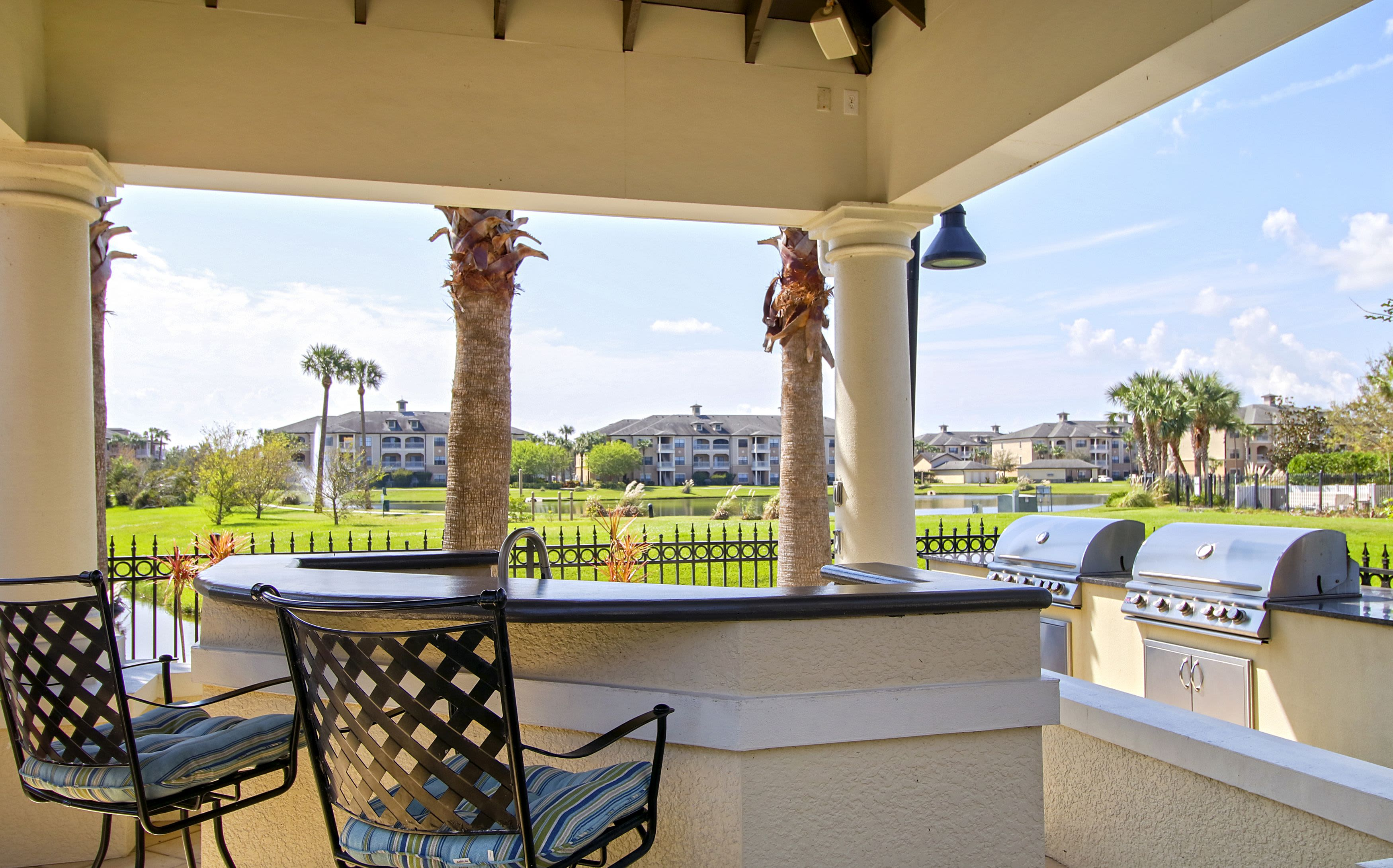 Luxury BBQ Area at Highlands Viera West in Melbourne, Florida