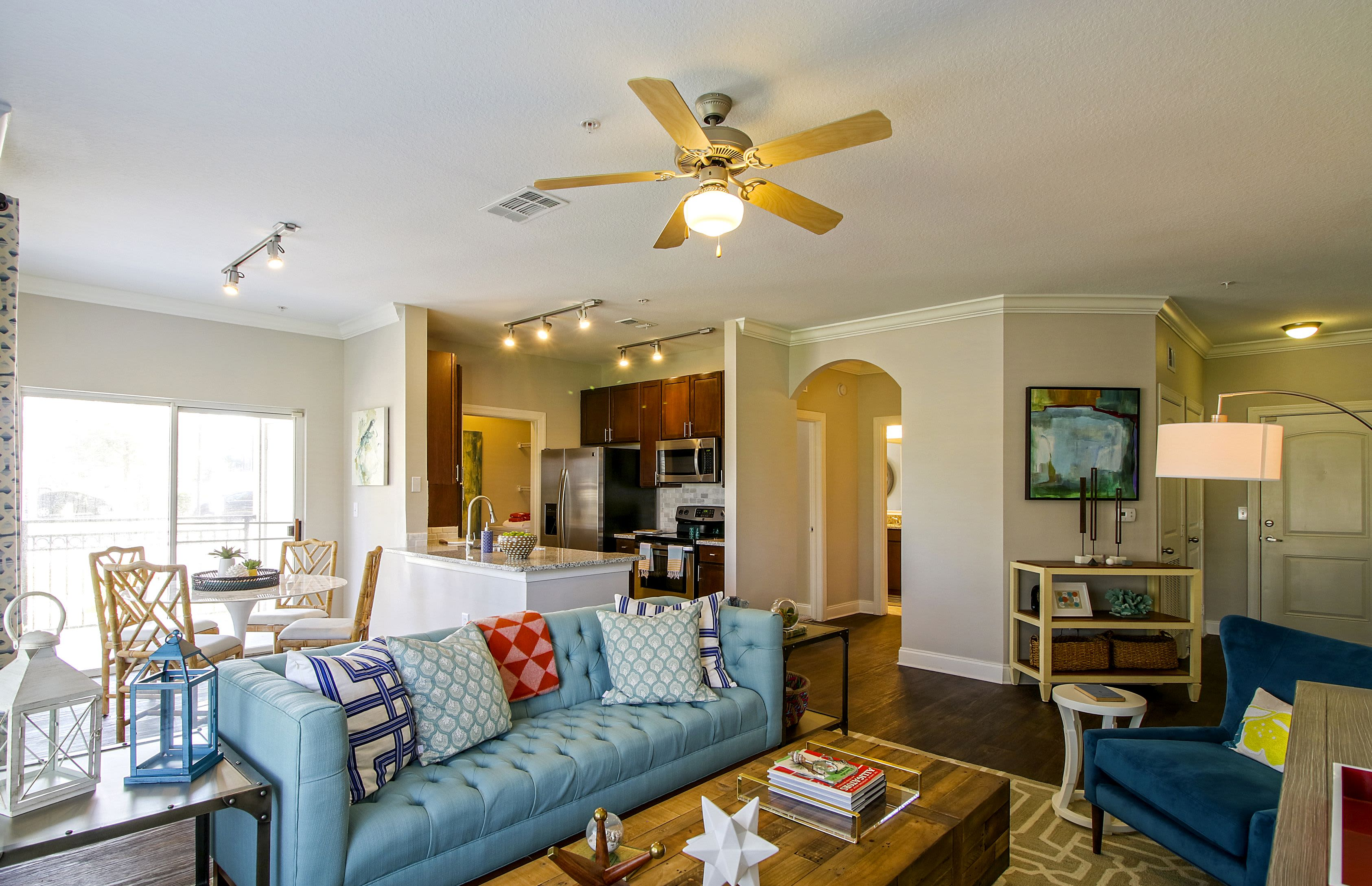 Luxury Living Room at Highlands Viera West in Melbourne, Florida