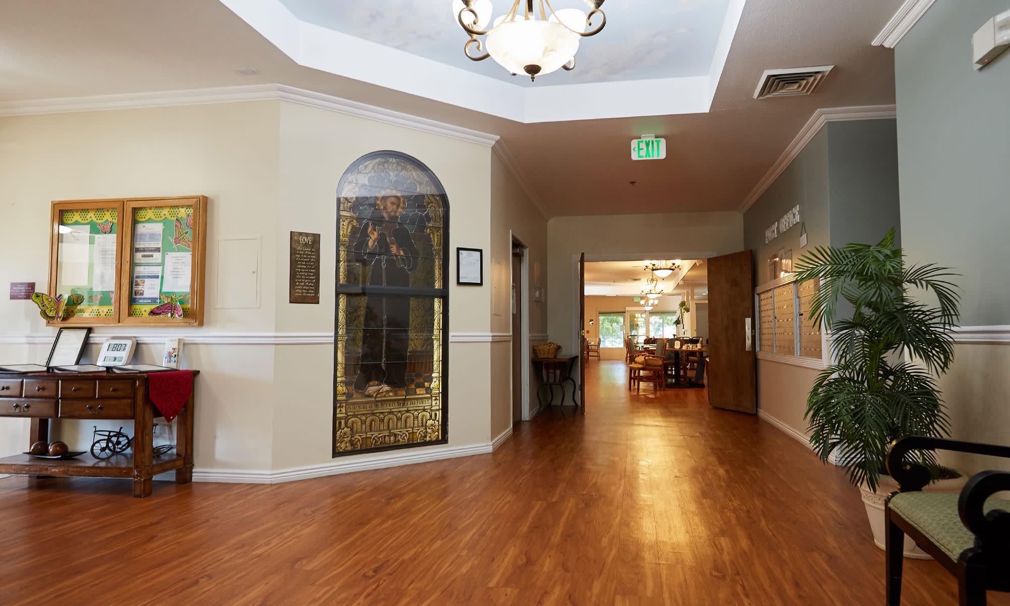 Hallway at Dayspring Villa