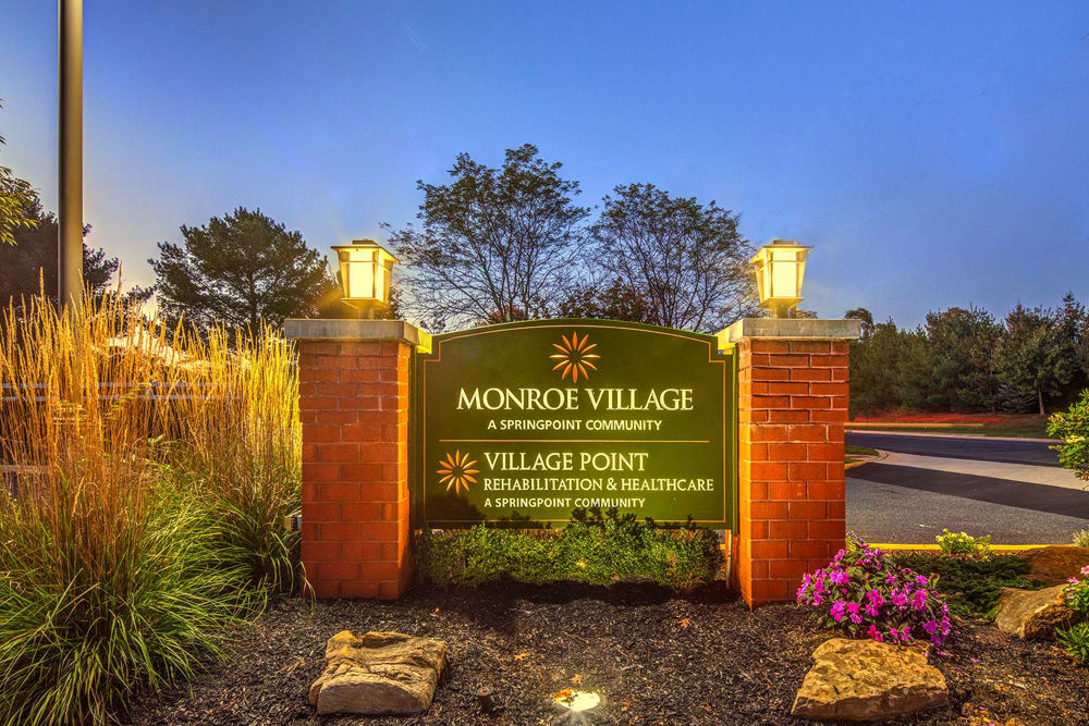Front sign at Village Point