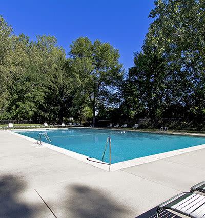 Swimming pool at Raintree Island Apartments