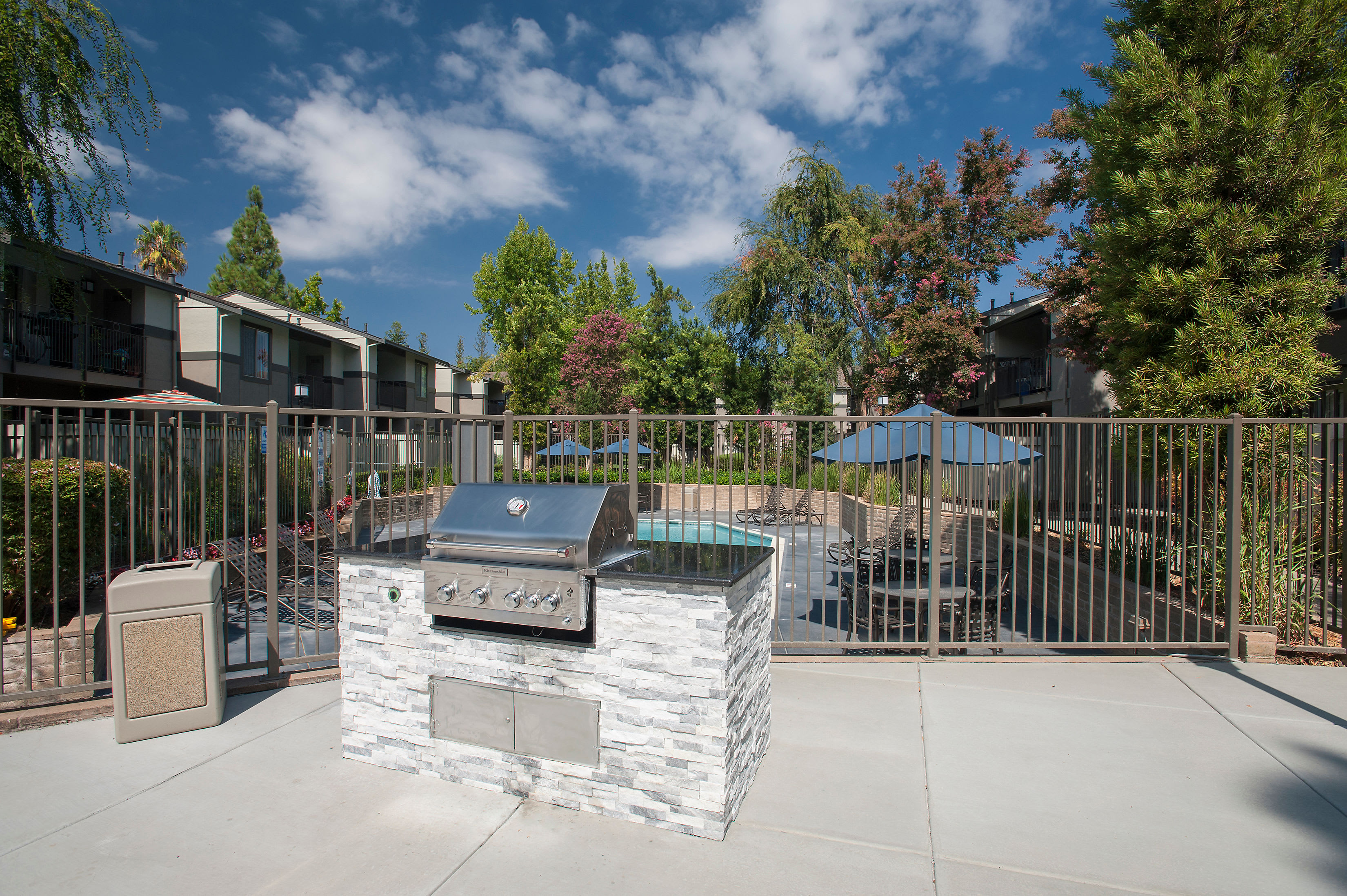 Outdoor BBQ Area  at Valley Ridge Apartment Homes in Martinez, California