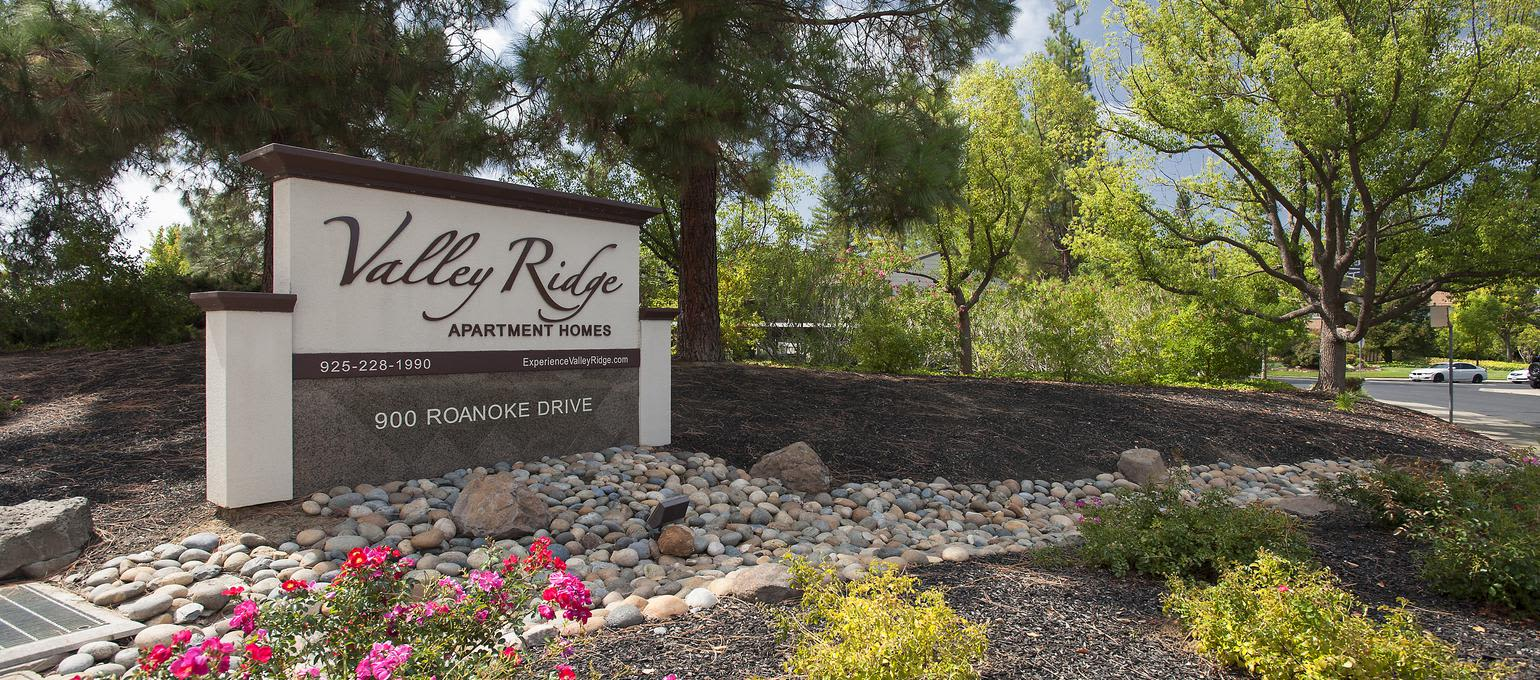 Signage at Valley Ridge Apartment Homes in Martinez, California