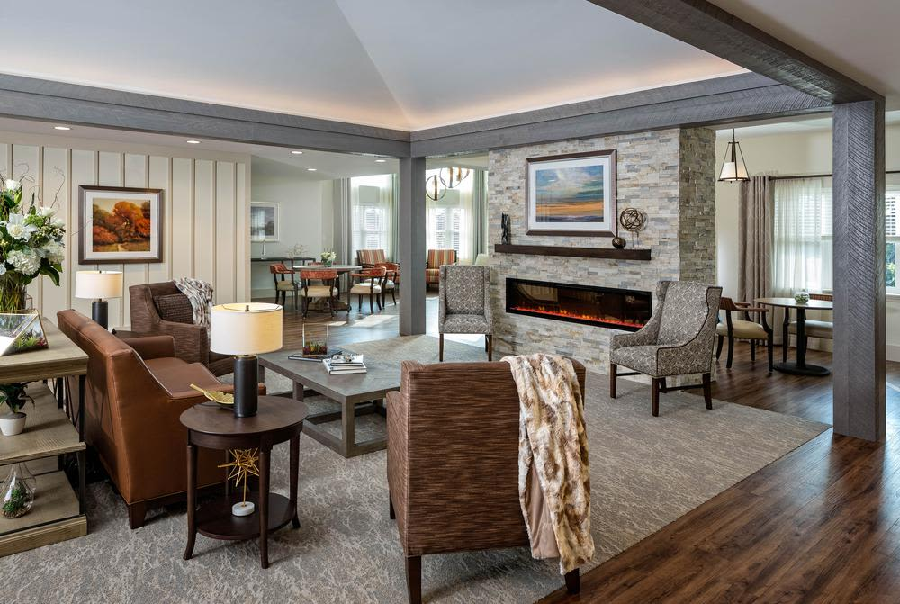 Living space at Mill Hill Residence in West Yarmouth, Massachusetts