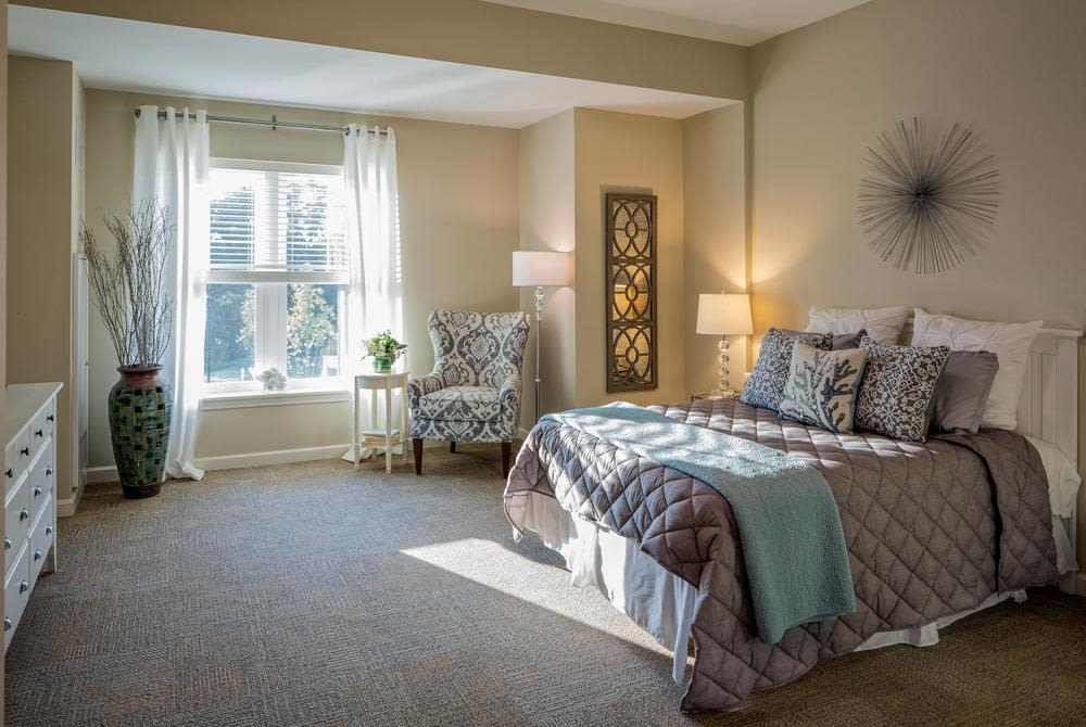Bedroom at Mill Hill Residence in West Yarmouth, Massachusetts