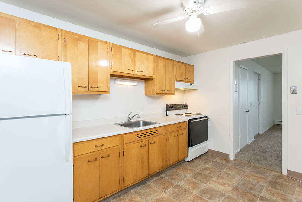 Kitchen at Pittsford Garden Apartments in Pittsford, New York