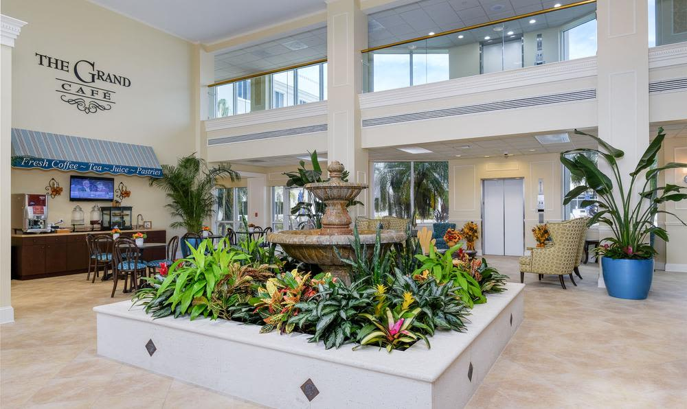 Lobbi  area at Grand Villa of Fort Myers in Fort Myers, Florida