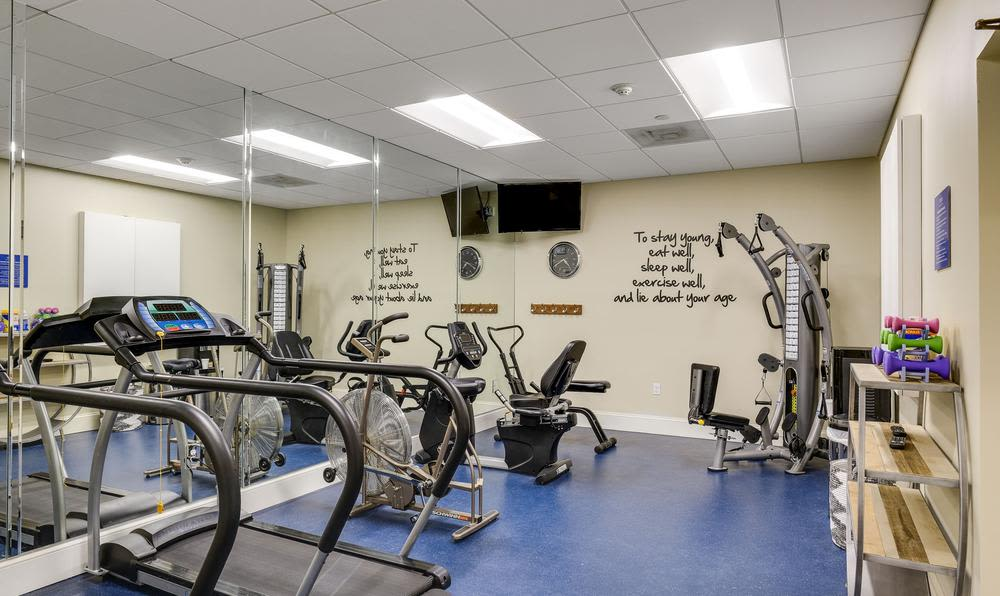 Beautiful fitness center at Grand Villa of Fort Myers in Fort Myers, Florida