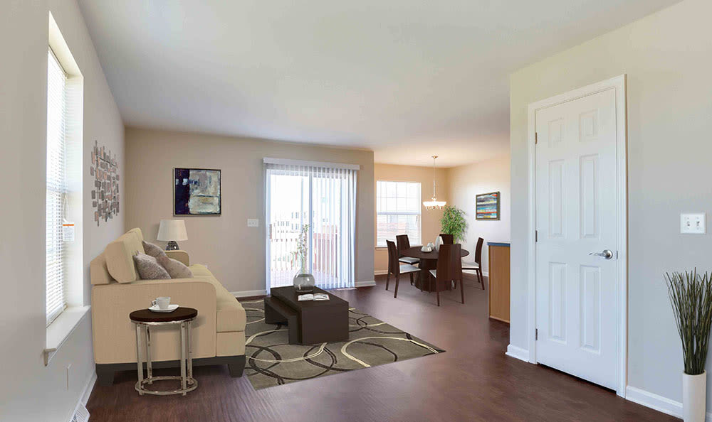 Welcome to your new living room at Lion's Gate Townhomes