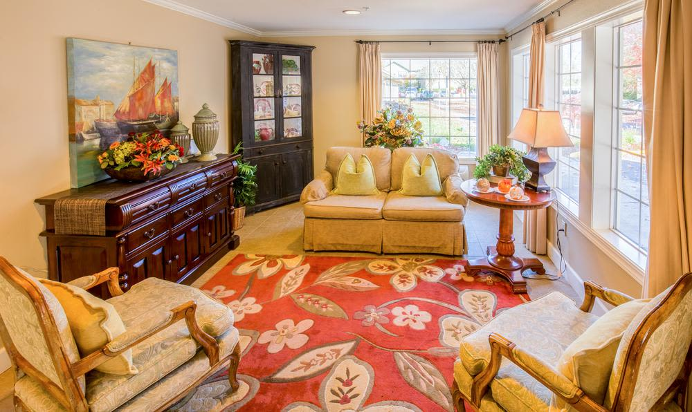Living space at Cedar Crest Alzheimer's Special Care Center in Tualatin, Oregon