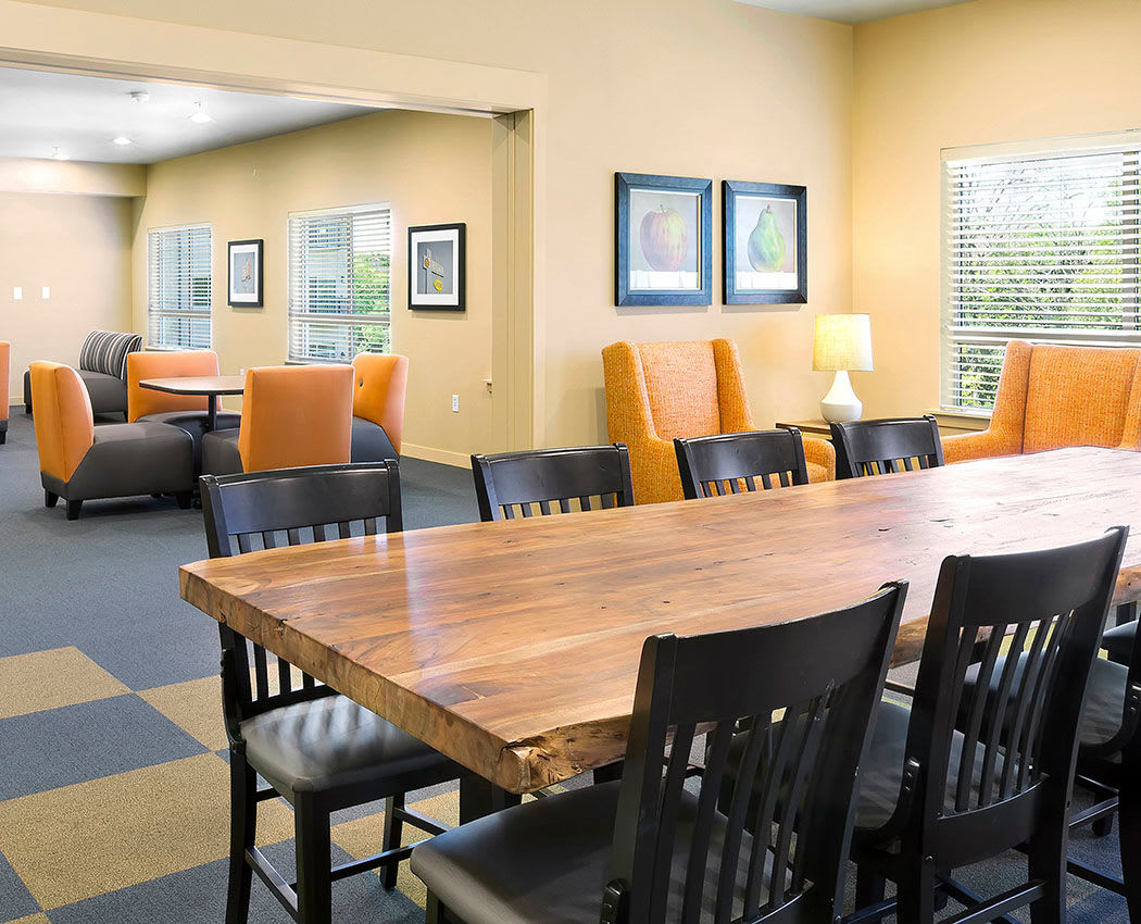 Resident lounge at Affinity at Wells Branch