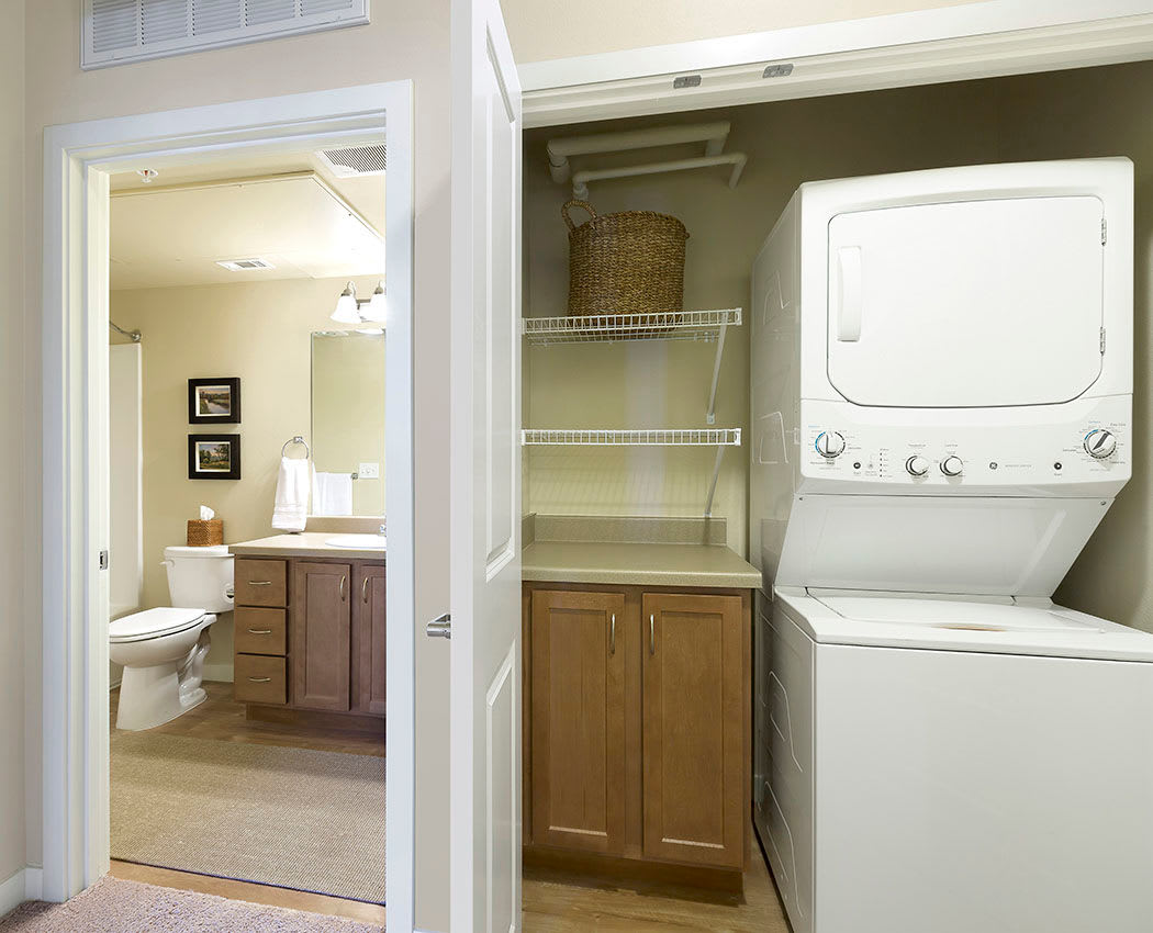In-home washer and dryer at Affinity at Wells Branch