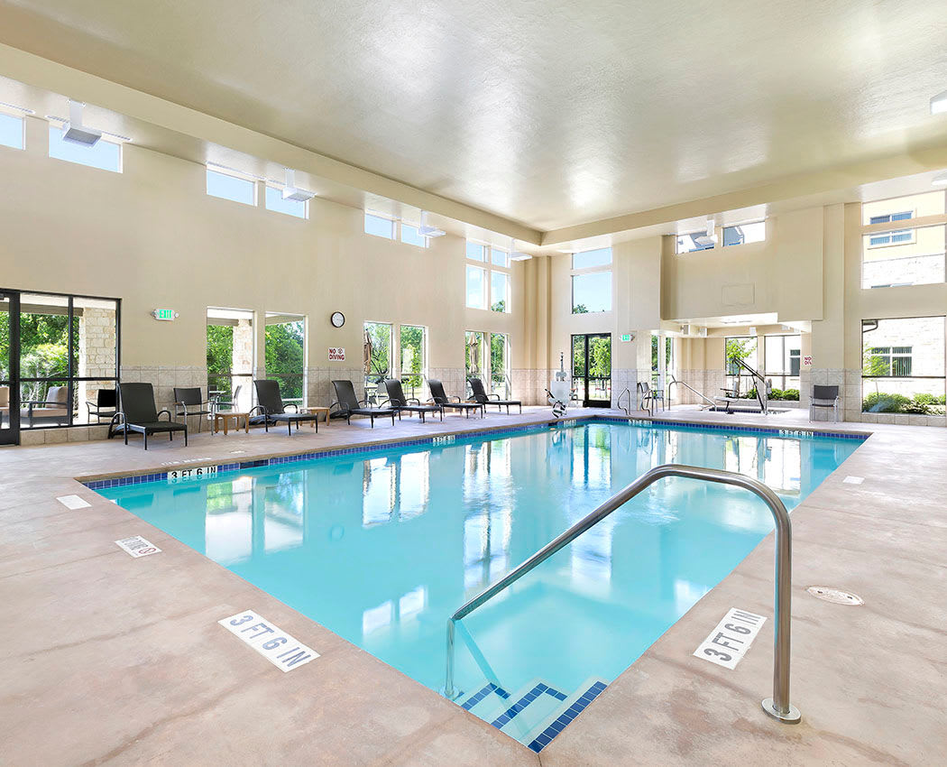Enjoy the indoor pool at Affinity at Wells Branch
