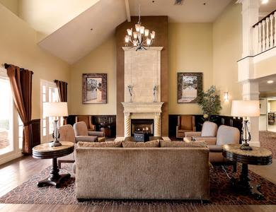 Common room at senior living facility in Chino Hills, California