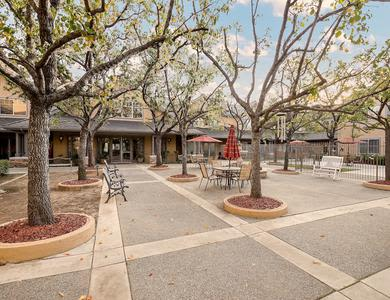 An exterior view of the beautiful campus at Pacifica Senior Living Chino Hills