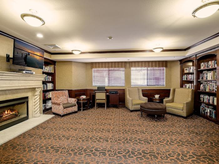 Library at Pacifica Senior Living Chino Hills in Chino Hills, California