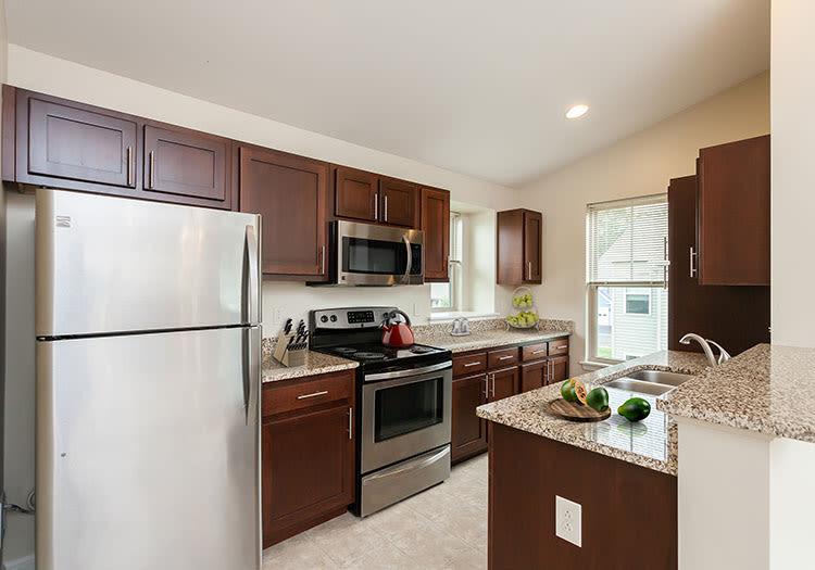 Modern kitchen at Saratoga Crossing home in Farmington