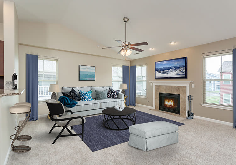 Spacious floor plans at Saratoga Crossing
