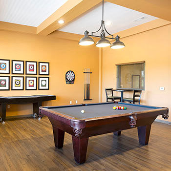 Pool table at Affinity at Loveland