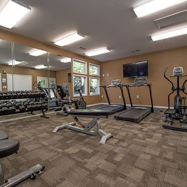 Workout facilities in Ridgeland apartments