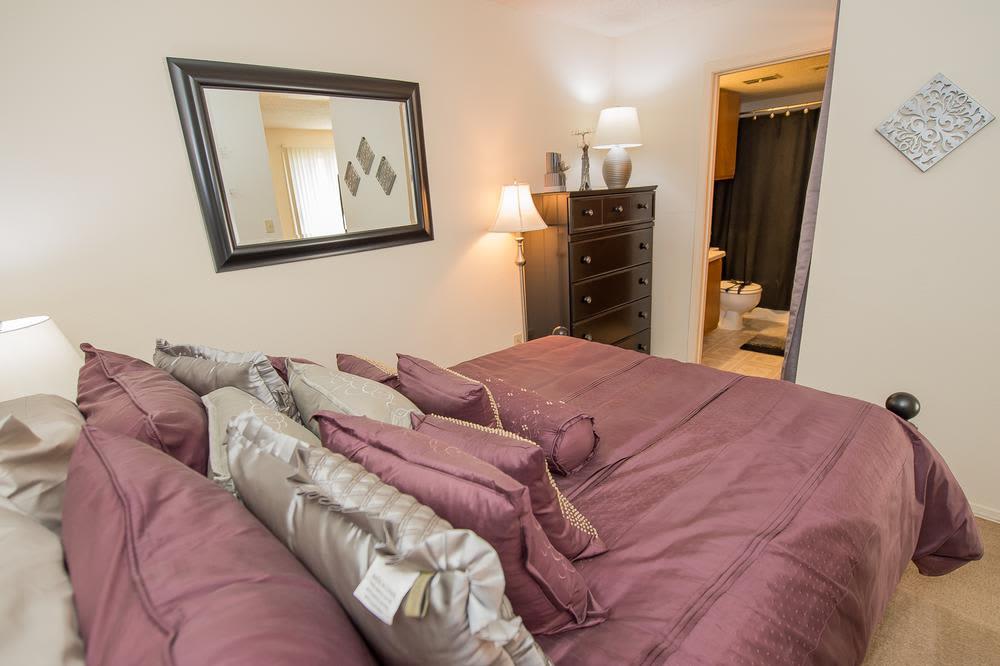 Bedroom at Sunchase Ridgeland Apartments in Ridgeland, Mississippi