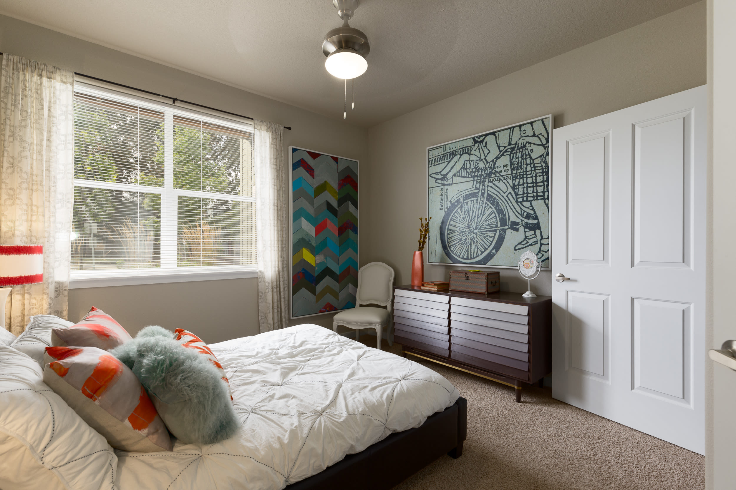 Fully Furnished Bedroom at Terrene at the Grove in Wilsonville,