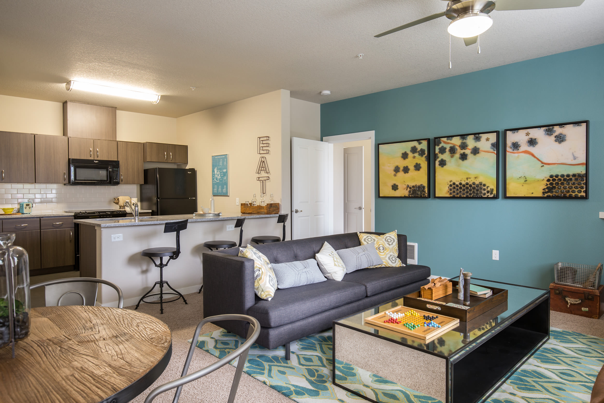 Living Room at Terrene at the Grove in Wilsonville