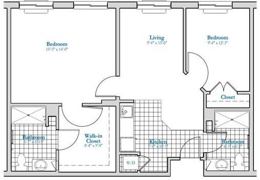 AB2 - 2 Bed 2 Bath