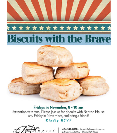 Biscuits with the Brave - activities at Benton House of Covington in Covington, GA