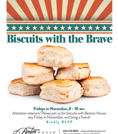Biscuits with the Brave - activities at Benton House of Decatur in Decatur, GA