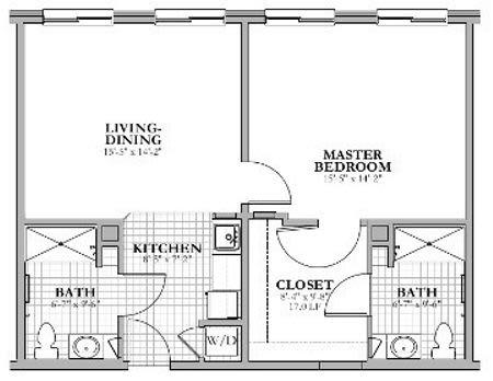 AA - 1 Bed 2 Bath