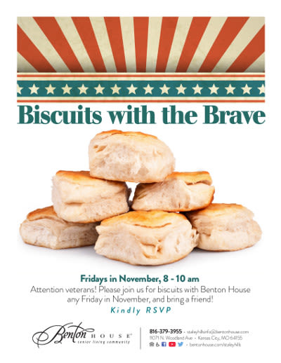 Biscuits with the Brave - activities at Benton House of Staley Hills in Kansas City, MO