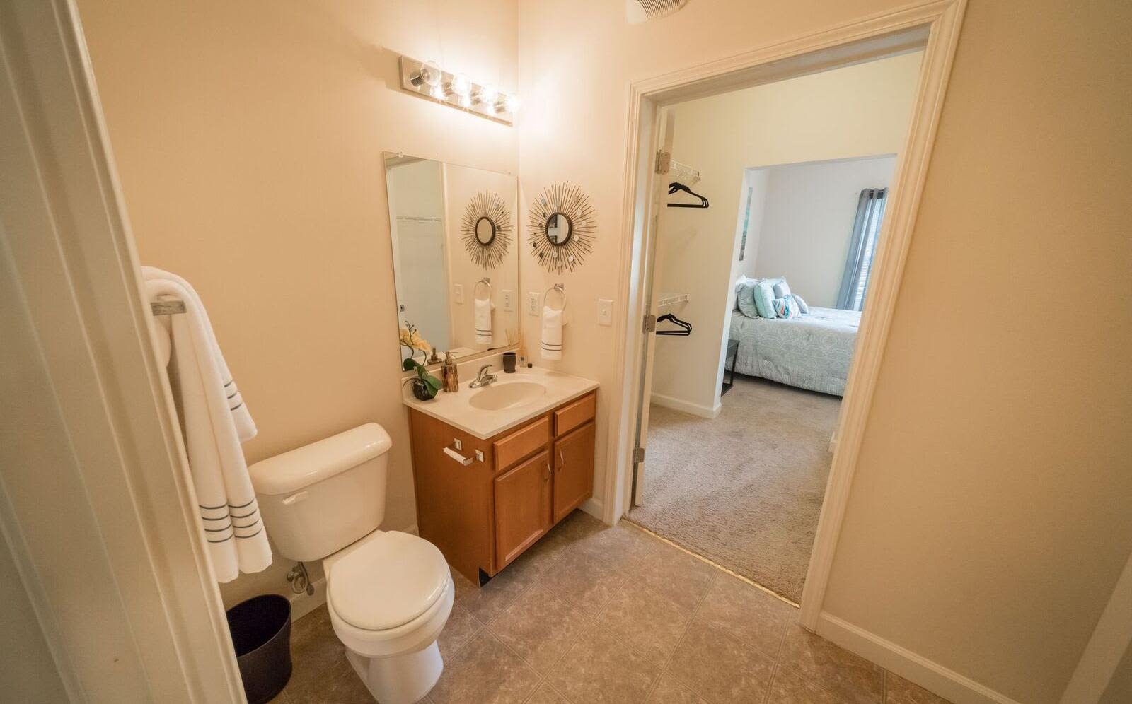 Enjoy a beautiful bathroom at Pavilion at Plantation Way in Macon, Georgia