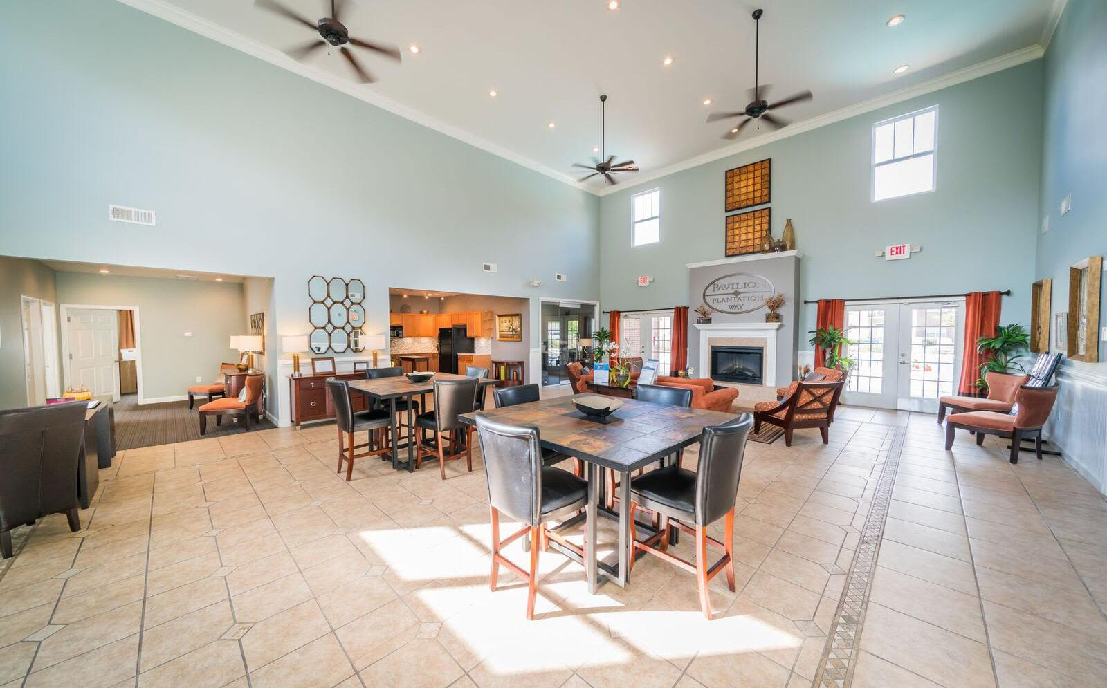 Enjoy a beautiful clubhouse at Pavilion at Plantation Way in Macon, Georgia