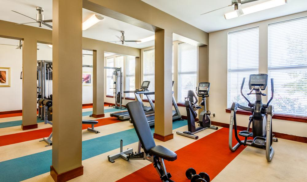 Fitness Center at 4000 Hulen Urban Apartment Homes in Fort Worth, TX