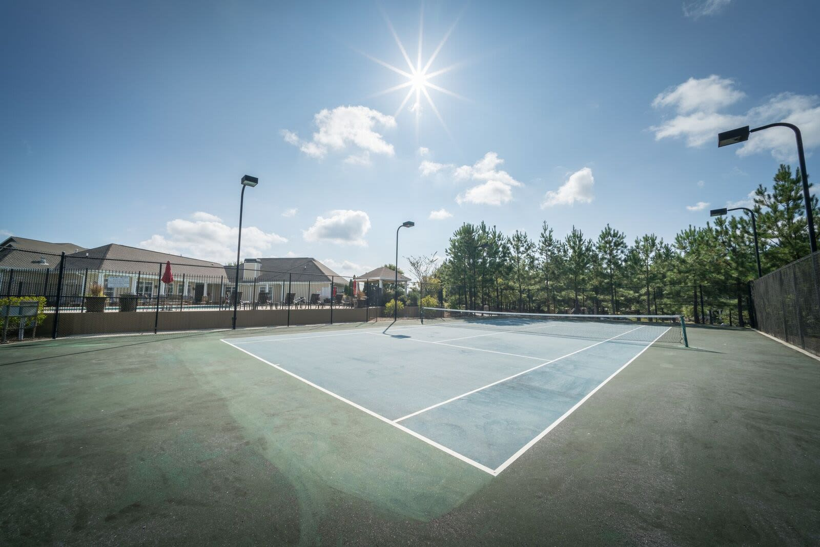 Haddon Place offers a unique tennis court in McDonough, Georgia