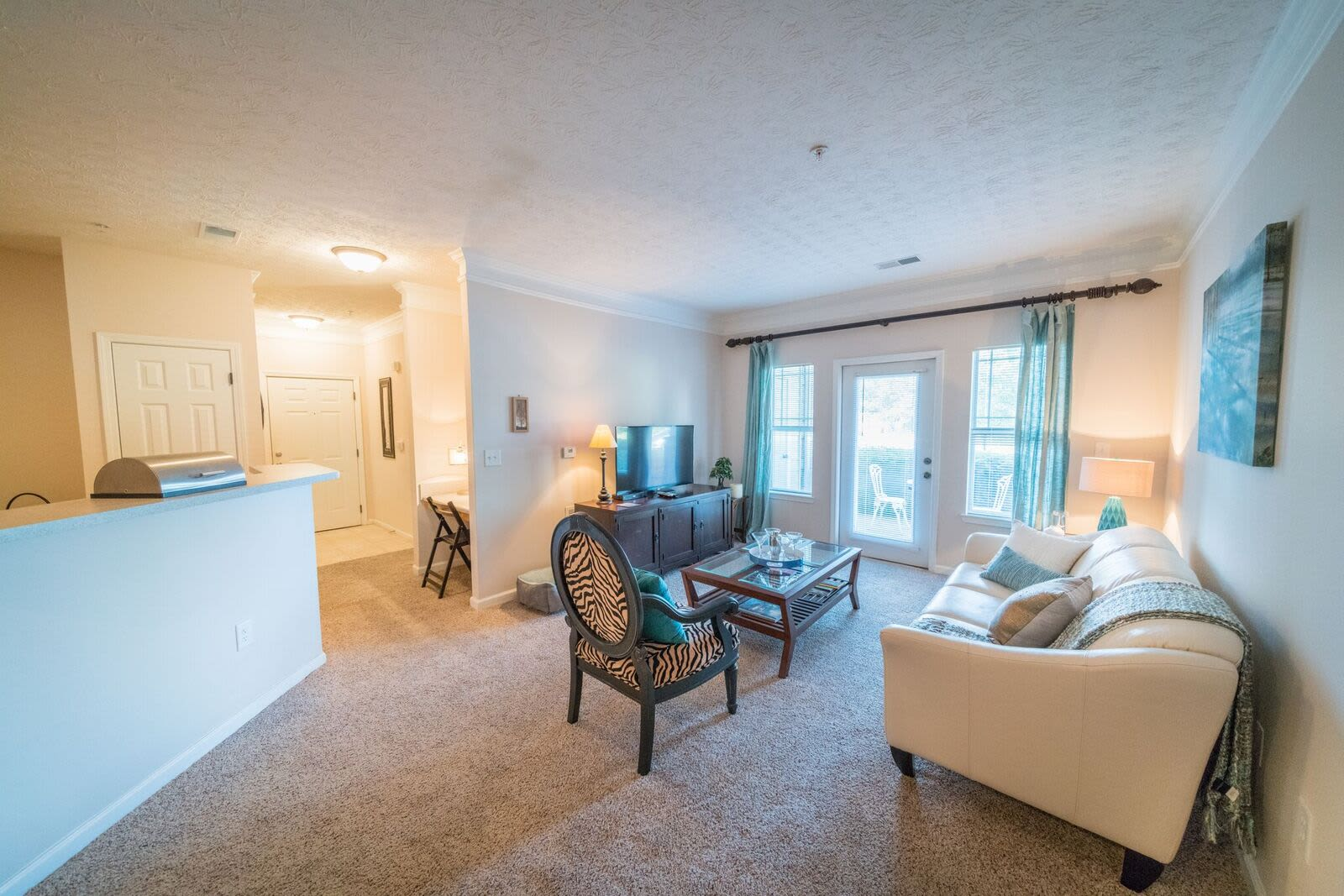 Enjoy apartments with a spacious living room at Haddon Place