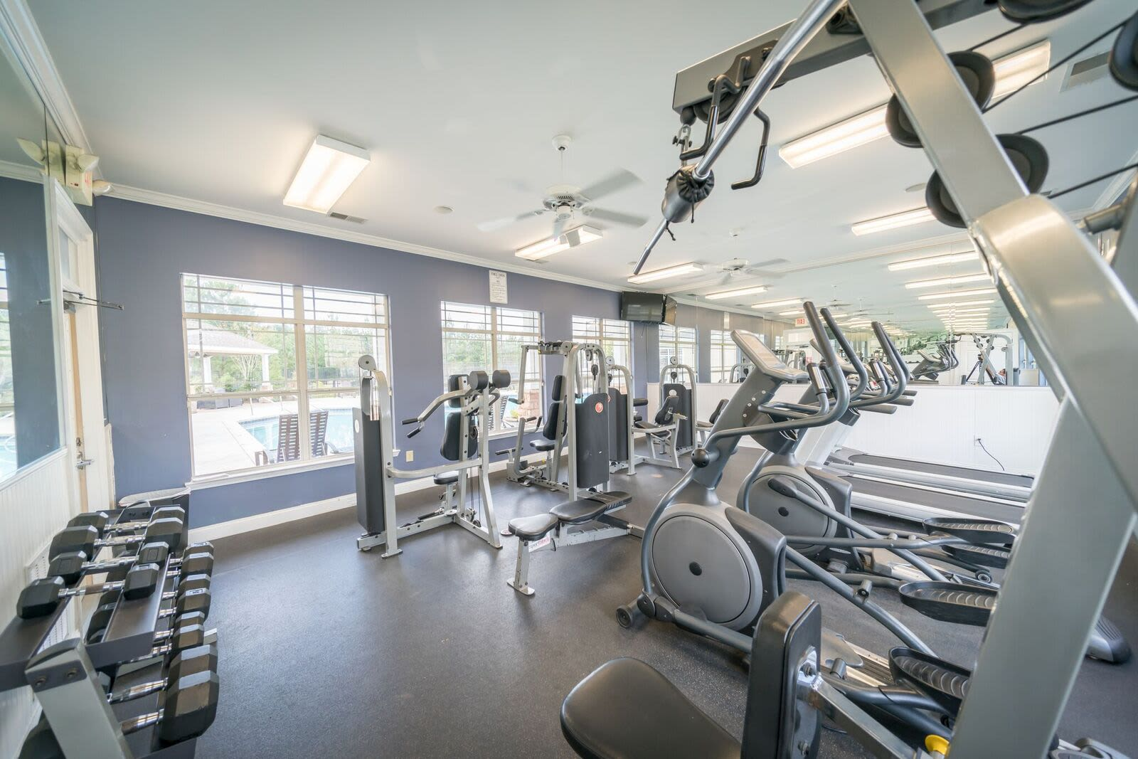 Haddon Place offers a modern fitness center in McDonough, Georgia