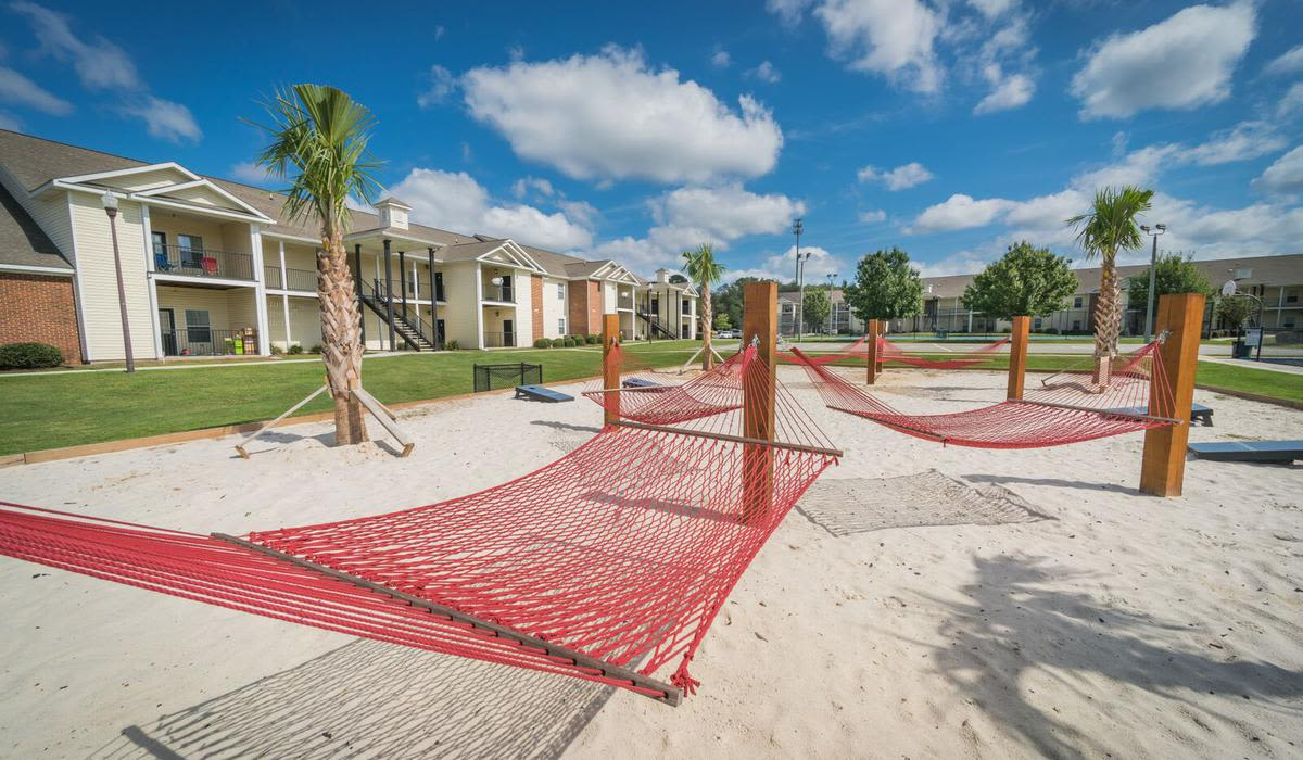 Northwind Apartments offers a sandy hammock area for its residents in Valdosta, Georgia
