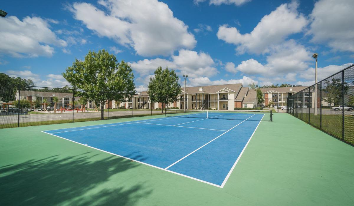 Tennis court at apartments in Valdosta, Georgia